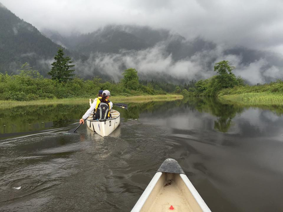 Canoeing on a Hike in British Columbia