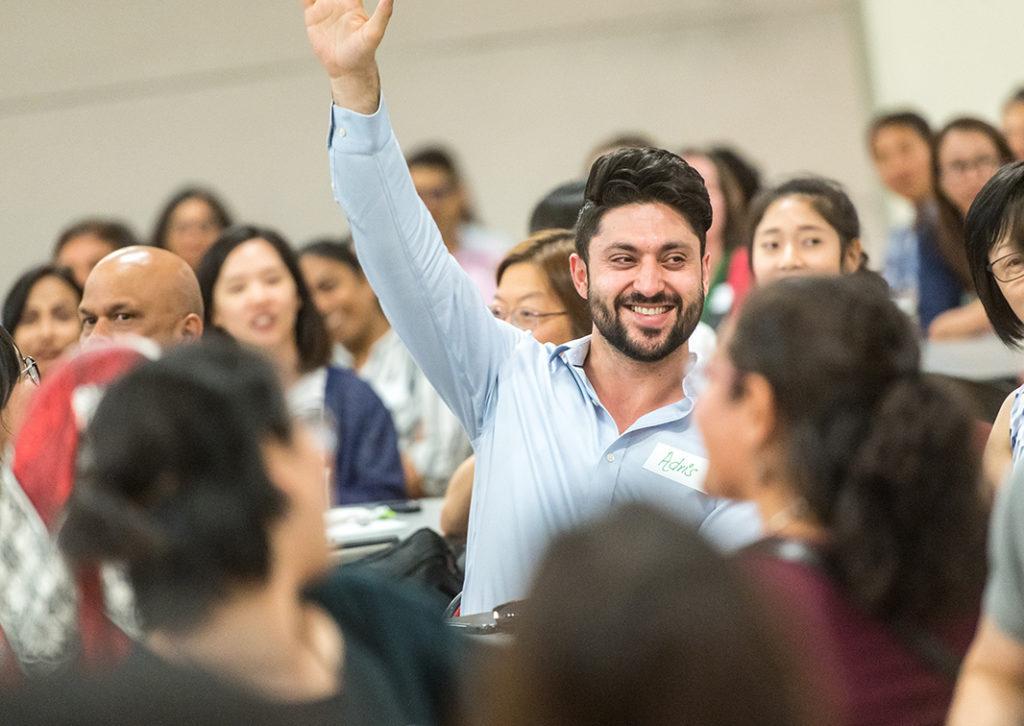 Library Champion Raising Hand